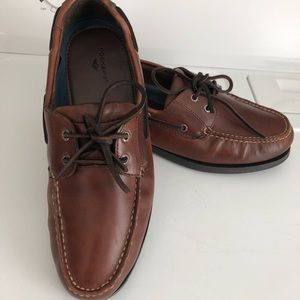 DOCKERS Brown Leather Casual Boat Shoes Size 11 W